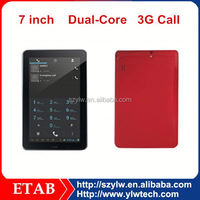 MTK6572 dual core 7 inch tablet pc with 3g mobile phone function