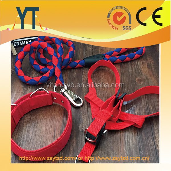 2017 Pet Leash - Pet Leash and Collar Set for Sales Promotion, Hot Sale Nylon Dog