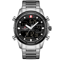 NAVIFORCE Brand Men Watches Luxury Sport Quartz 30M Waterproof Watches Men's Stainless Steel Auto Date Wristwatches Relojes 9138