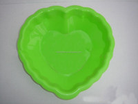 heart shaped silicone fruit tray, efficient silicone japanese tableware set,flexible silicone dinner plates for restaurant