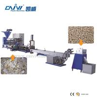 Plastic PE bottle recycle washing double stage granulating line/granule production line