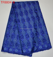 Latest wholesale french net lace fabric Beautifule royal blue lace fabric for nigeria pary