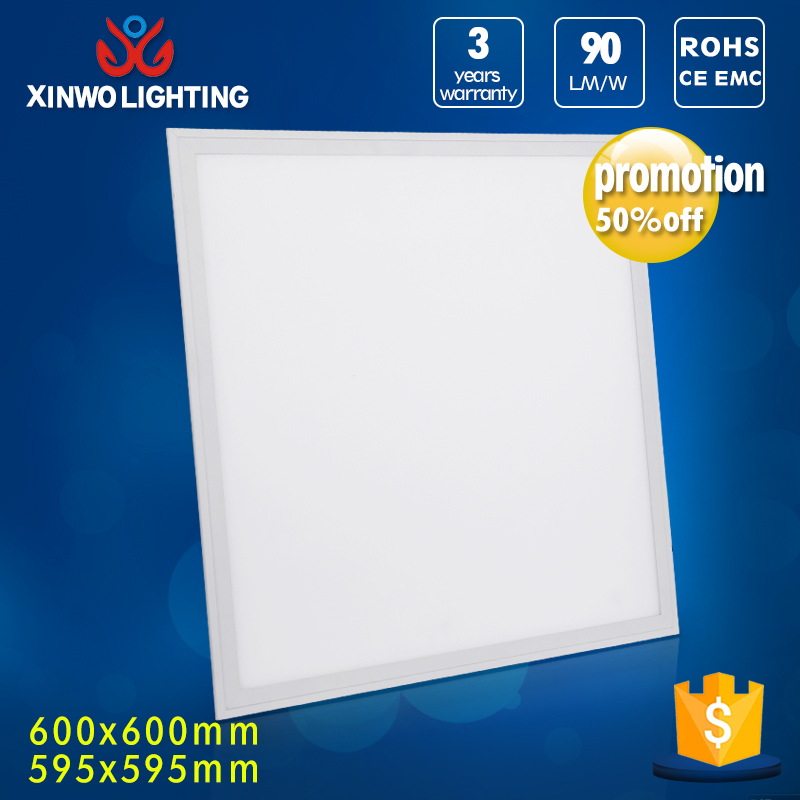 China manufacturer AC85-265V 100lm/w dimmable led 600x600 ceiling panel light