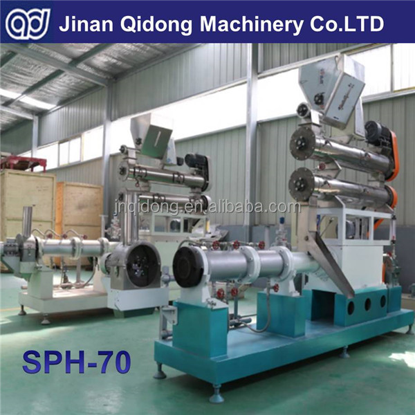 Jinan Qidong Small capacity twin screw fish & dog food extruder for sale