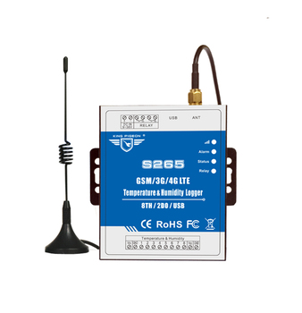 King Pigeon 3G 4G S265 GSM GPRS Remote Control Cloud App SMS Temperature Humidity Data Logger Alarm System