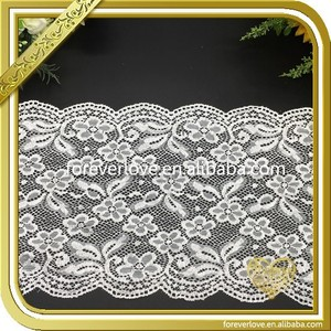 Wholesale elastic tissu en dentelle guipure french lace trim FLL-048