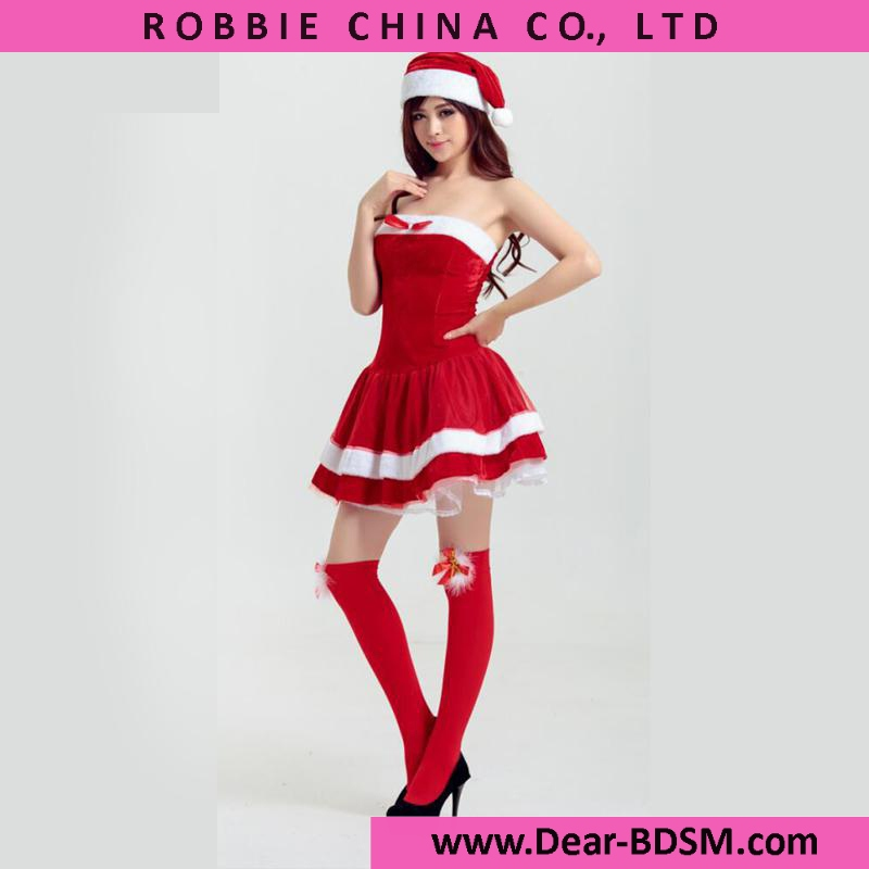 2016 Fashion Halloween Costumes For Women High Quality Sexy Off Shoulder Red Santa Costume Christmas Fancy Dress Cosplay Costume