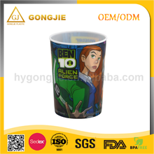 Advertising Mug, Juice Drinkware, Custom Printed, Promotional Colorful, PP Plastic Cup