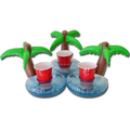 inflatable Palm Tree Beverage drink holder for swimming pools and spas Holder