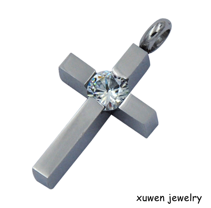 CZ stainless steel small metal crosses