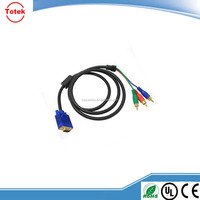 Male to Female VGA RCA Converter Cable VGA to 3 RCA cable