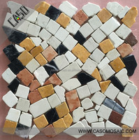 Marble Color Blend / Blending Mosaic Tile for Indoor and Outdoor Decoration Hot Sale From China Supplier / OEM Support MC-T24