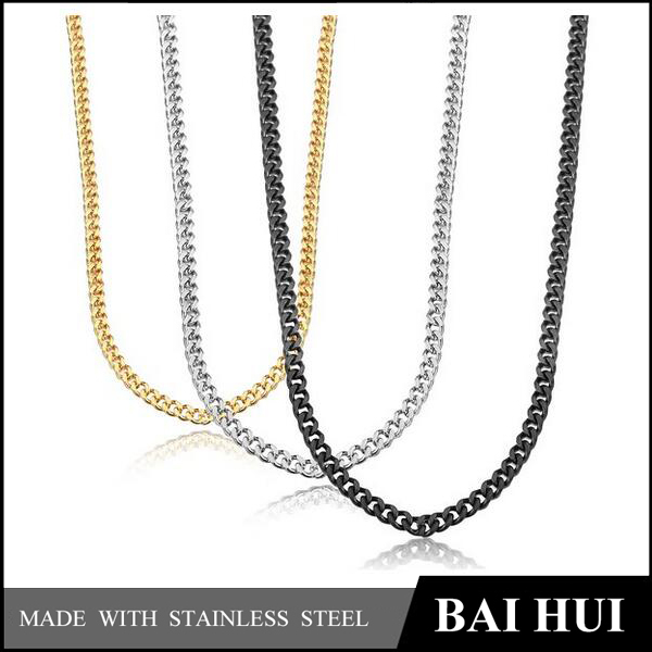 Baihui Jewelry-3.5MM Stainless Steel Mens New Designs Gold Chain Set/Wholesale High Quality New Gold Chain Design For Men