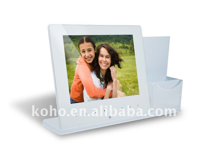 "pen holder 10.4"" ultra slim digital photo frame"