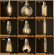 11.11 Global Sourcing Festival E27 E14 B22 dimmable filament led bulb,2W4W6W led filament lamp, dimmable led filament bulb light