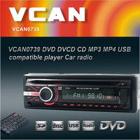 VCAN0739 Detachable front panel Single-Din USB/SD/DVD/CD portable radio cd mp3 usb player with radio