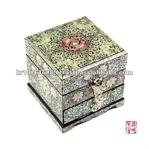 Lacquerware Inlaid with Mother of pearl Jewelry box.