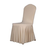 Pattern High Class Handmade White Wedding Chair Cover