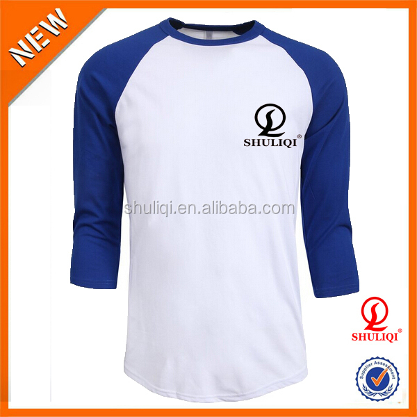 3/4 raglan sleeve t shirt stitching design sample welcome fast delivery paypal acceptable