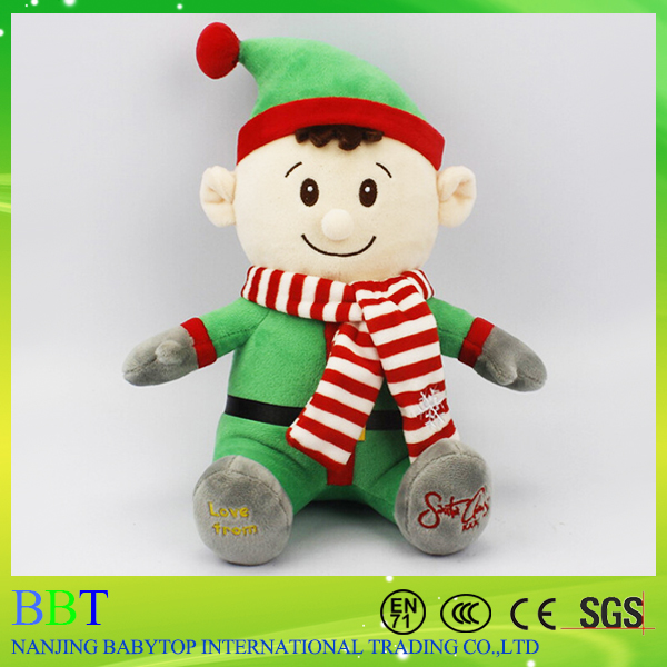 New Promotional Gift High Quality China Plush Christmas Elf Soft Toy