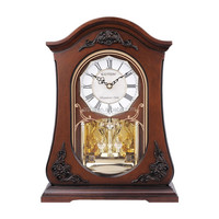 antique wooden table clock with pendulum GD406-1