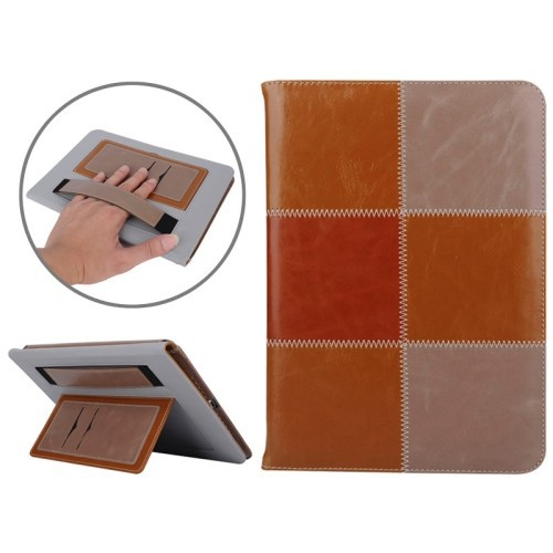 2015 Alibaba Wholesale Hand Strap Pattern Flip Leather Case for iPad Air 2 Cover