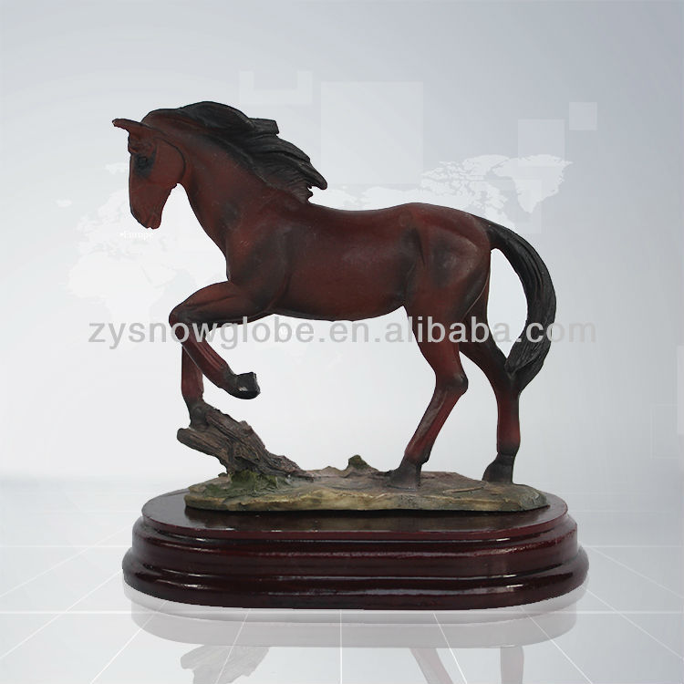 Antique resin chinese horse sculpture