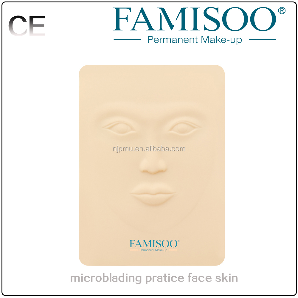 3D tattoo microbalding practice face skin with wholesale price for tattoo kits
