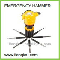 Multifunction Emergency Hammer Screwdriver Flashlight Tools, Electrical Tools