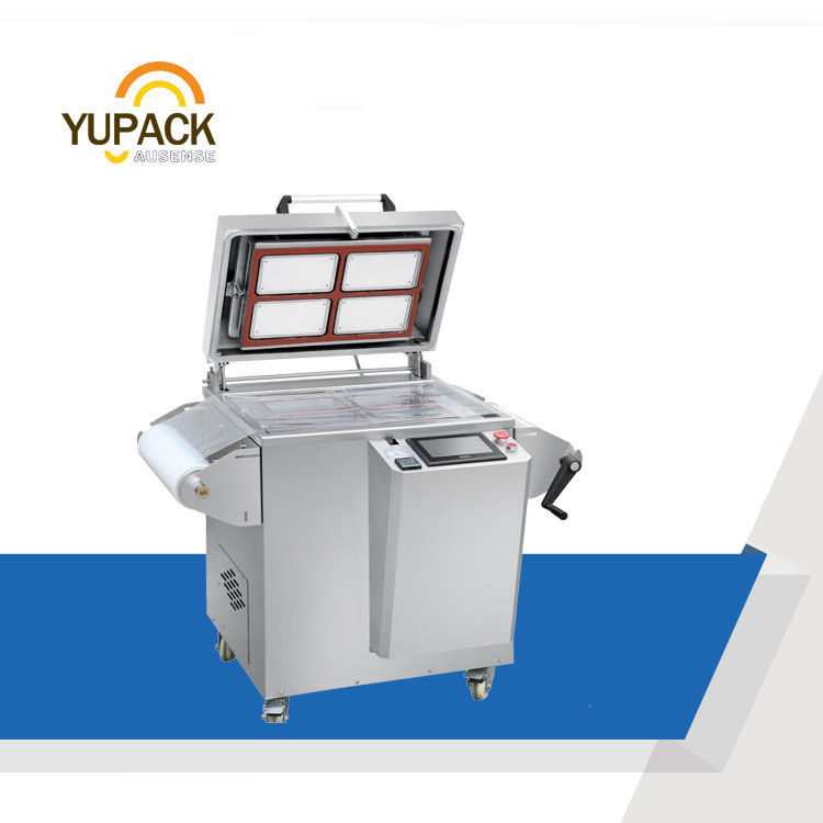 MAP Vacuum Tray Sealing Machine packing machine for meat / sea food
