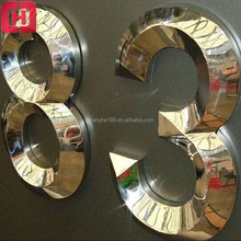 China supplier sale cheap long life alphabet mirror letters 3d metal letter signs for crafts