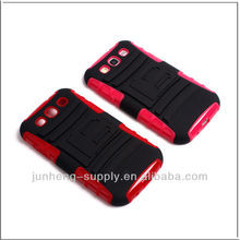 BLACK RUGGED HYBRID HARD CASE COVER BELT CLIP HOLSTER SAMSUNG GALAXY S III 3 S3