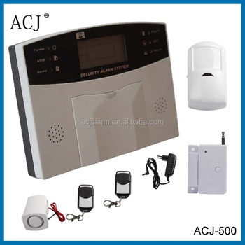 LCD display voice guide home security PSTN alarm system