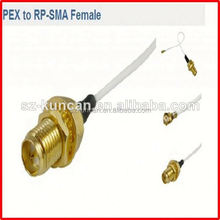RF interface/pigtail/jumper/antenna coaxial cable with SMA type connector