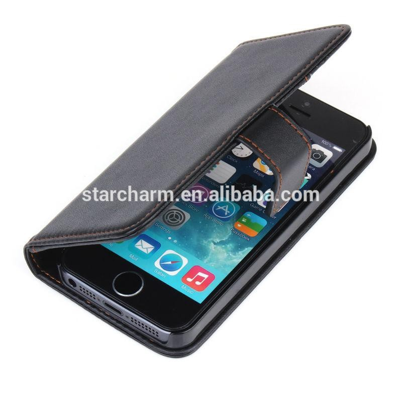 Cheap price pu leather mobile phone case for iphone 5s