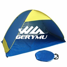 Automatic Open Beach Tent Outdoor Tourist Sun Shade With Steel Pole Sunscreen 2017 Travel Tent