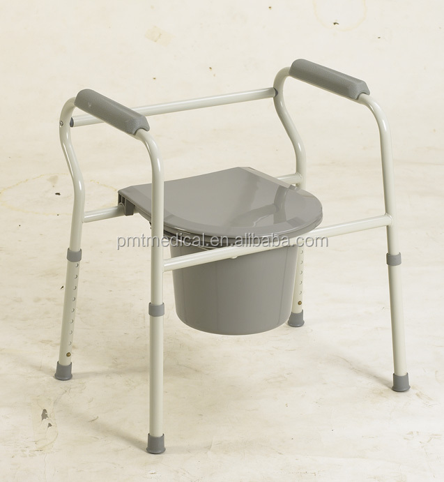 Disable bedpan plastic commode chair for elderly