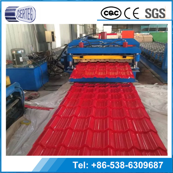 Hot Dipped Colorful Corrugated Steel tile Roofing ---YX35-125-750