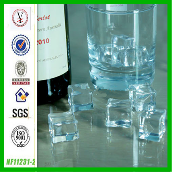 factory custom OEM/ODM reusable acrylic plastic ice cube