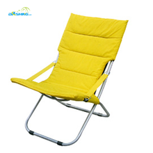 durable outdoor folding deck chairs/beach chair /reclining chair with pillow