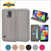 Full Curved PU Leather Magnet Stand Wallet Phone case cover for Samsung Galaxy S5 ------- Laudtec