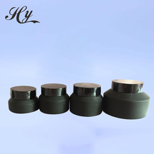 Quality Assurance Black Glass Cosmetic Jar
