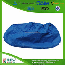 2017 New Products Diamond Pattern Embossed CPE Shoe Covers Disposable CPE Shoe Cover Waterproof Shoe Covers
