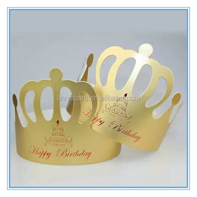 wholesale cheap golden paper crown happy birthday king tiaras prince hats