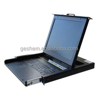 1U USB datd transfer KVM switch with 104 keyboard and 17''LCD console