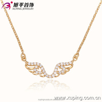 42566- xuping latest model fashion rhinestone angell wing necklace crystal necklace