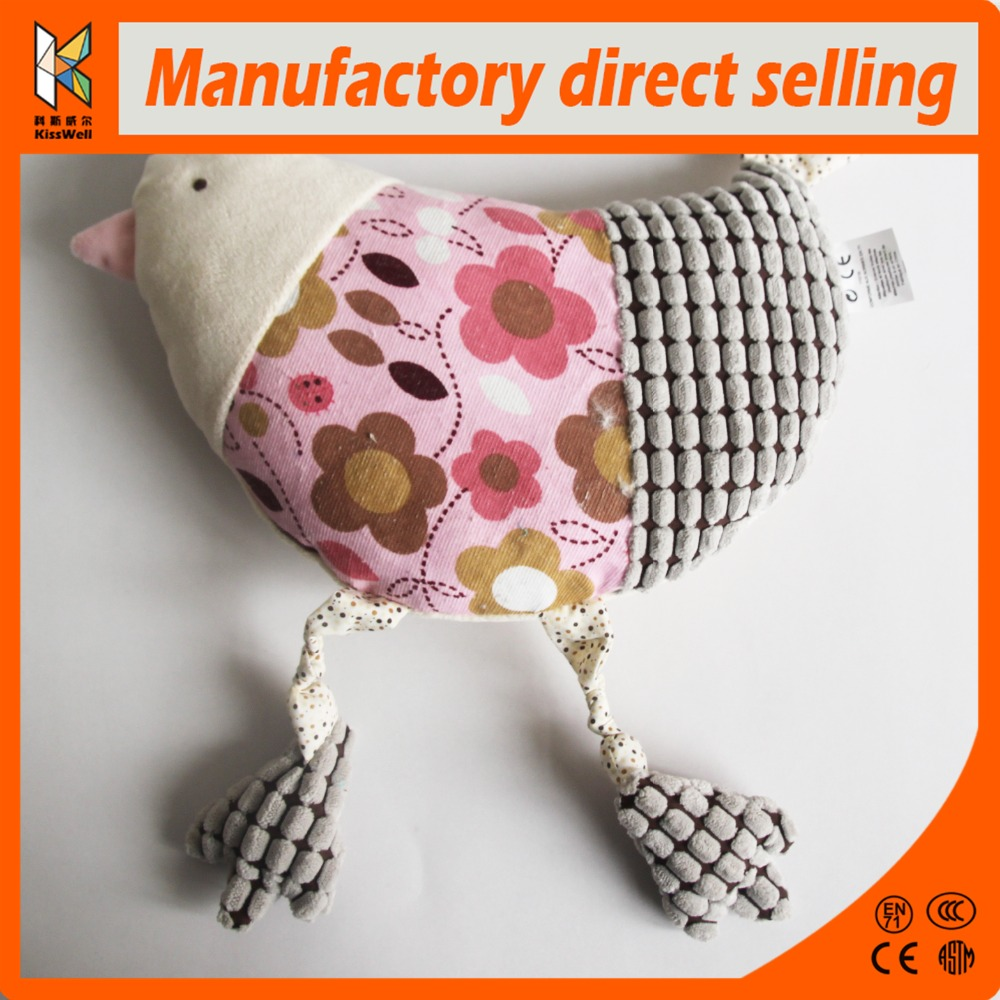 Creat your own product long leg chicken plush toys kids plush toys