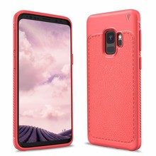 Lichee Pattern Soft TPU Protective Back Case For Samsung galaxy S9