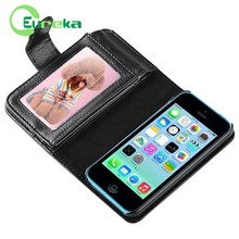 High quality two mobile phones leather case for IPhone 5C
