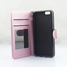 Metallic PU Leather Flip Slim Magnetic Mobile Phone Cellphone Cases With TPU for new i-6